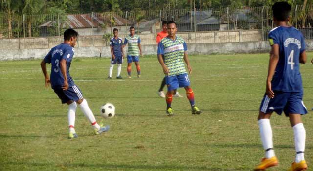 জেলা আন্তঃউপজেলা ফুটবলের উদ্বোধনী ম্যাচে জয়ী শেরপুর