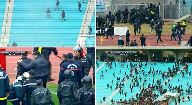 তিউনিশিয়ায় ফুটবল মাঠে সংঘর্ষ : ৩৮ পুলিশ আহত