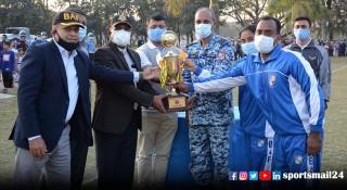 বিমান বাহিনীর আন্তঃঘাঁটি ফুটবলে চ্যাম্পিয়ন জহুরুল হক