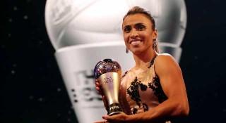 ফিফা বর্ষসেরা নারী ফুটবলার ব্রাজিলের মার্তা