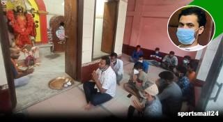 মাশরাফির সুস্থতা কামনা করে নড়াইলে মন্দিরে প্রার্থনা