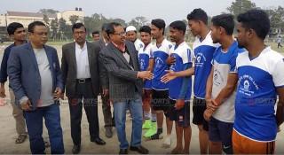 'বিভেদ নয়, একতায় মিলবে জয়' শেরপুরে সম্প্রীতি ফুটবল