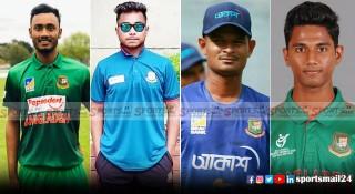বাংলাদেশ দলে নতুন মুখ : ওয়ানডে ক্রিকেটে চারজন, টেস্টে দু'জন