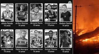 আগুনে পুড়ে ব্রাজিলের ১০ তরুণ ফুটবলারের মৃত্যু