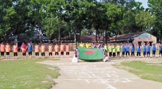নালিতাবাড়ীতে যৌতুক-বাল্যবিয়ে বিরোধী নারী ফুটবল ম্যাচ