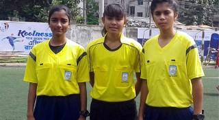 মিডিয়া কাপ ফুটবলে তিন নারী রেফারি