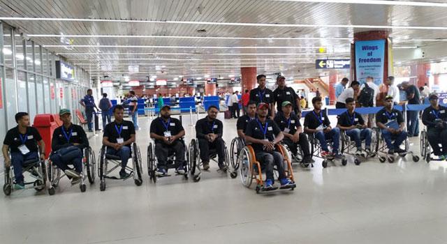 এশিয়া কাপ খেলতে নেপাল গেল হুইল চেয়ার ক্রিকেট দল