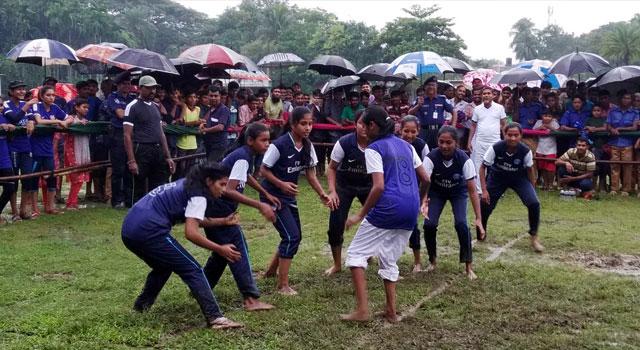 বালিয়াকান্দিতে মুজিববর্ষ কাবাডি প্রতিযোগিতা