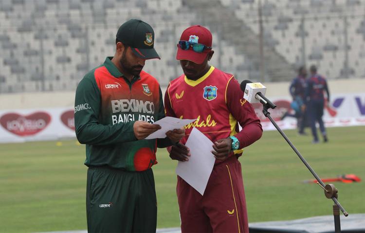 ওয়েস্ট ইন্ডিজের বিপক্ষে সিরিজের প্রথম ম্যাচ দিয়ে বাংলাদেশ ওয়ানডে ক্রিকেটের অধিনায়কত্বের যাত্রা শুরু করেন তামিম ইকবাল। ছবি : বিসিবি